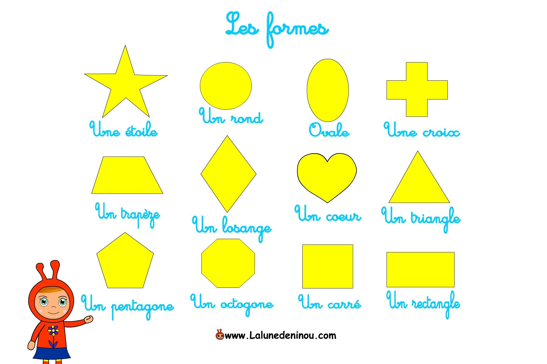 Apprendre les formes carre losange triangle jeux pour - Coloriage des formes geometriques ...