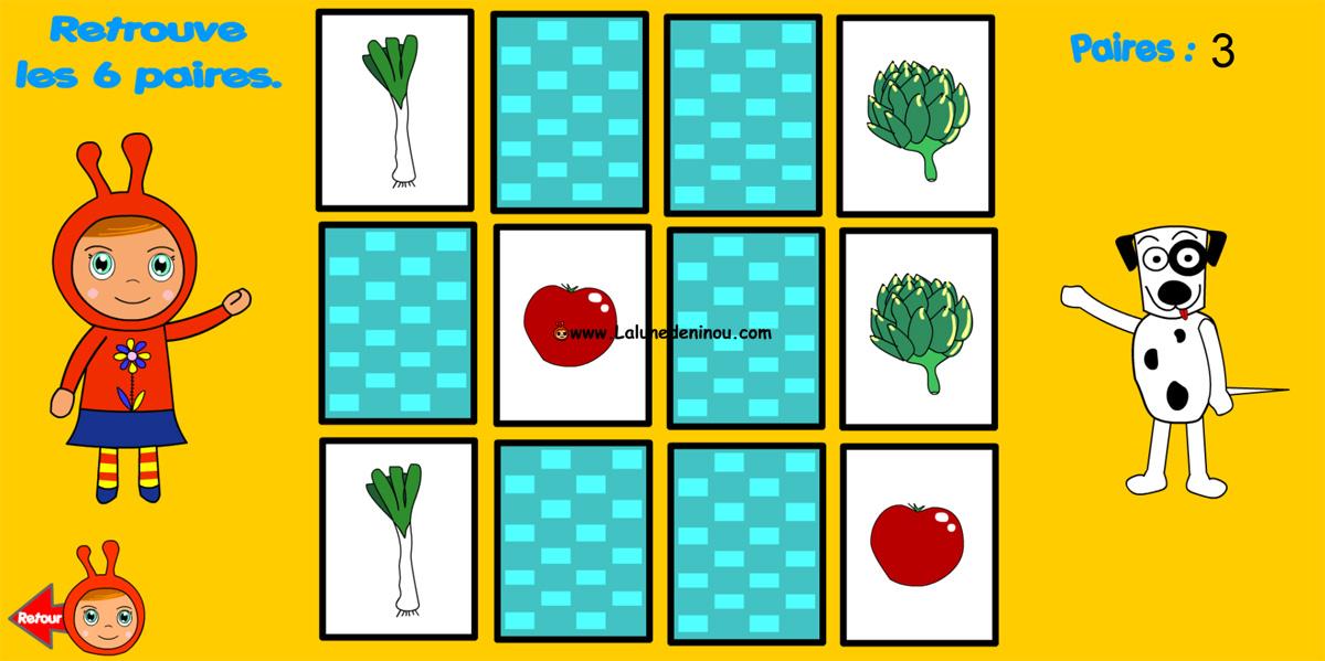 jeu de memoire cartes identiques memory jeux pour enfants sur. Black Bedroom Furniture Sets. Home Design Ideas