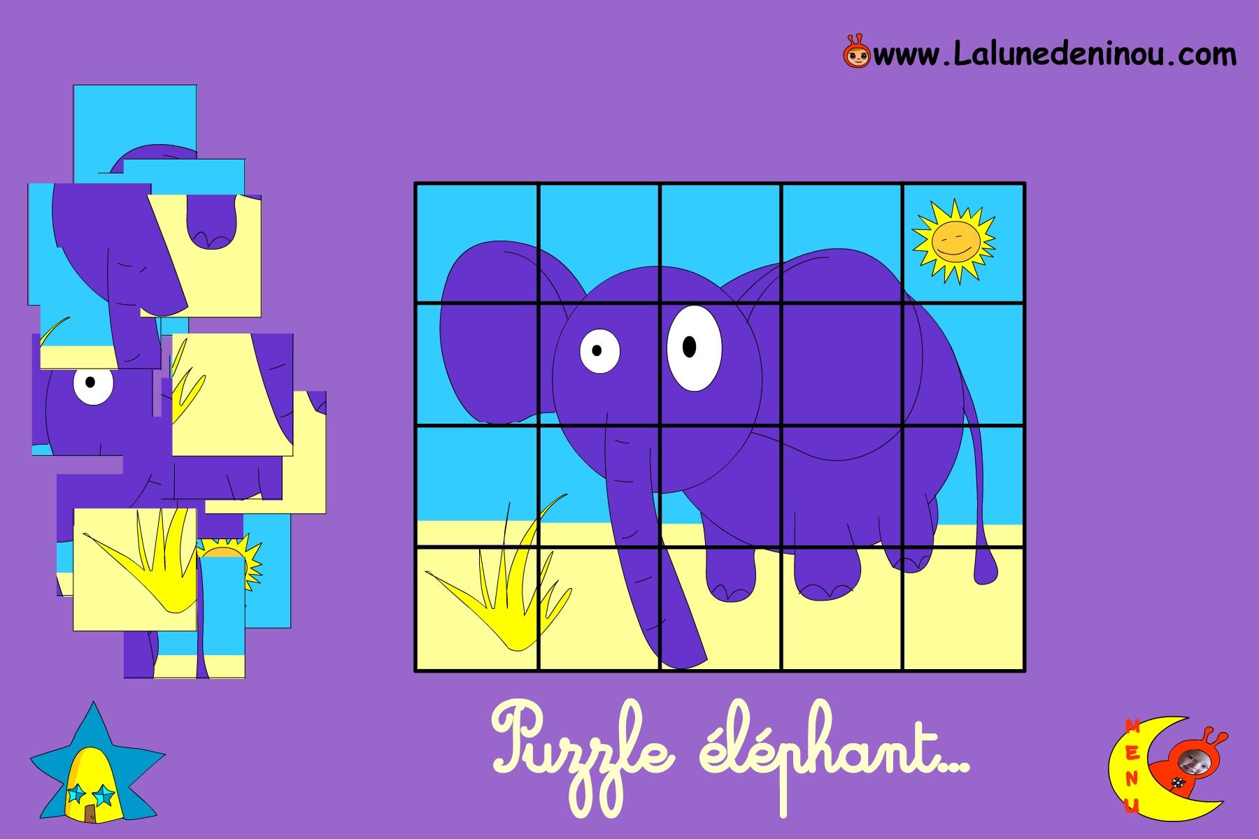 Puzzle En Ligne Pour Enfant De Maternelle Lalunedeninou Com